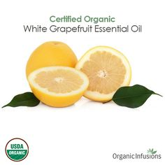 Organic Infusions presents 100% pure, steam distilled, therapeutic grade, Certified Organic White Grapefruit Essential Oil (Citrus paradisi).