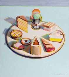 Grade: Wayne Thiebaud, Pop Art, And A Painting - Lessons - Tes Teach Wayne Thiebaud Cakes, Wayne Thiebaud Paintings, Pop Art Drawing, Art Drawings, Cake Drawing, Richard Diebenkorn, David Park, James Rosenquist, Circle Painting