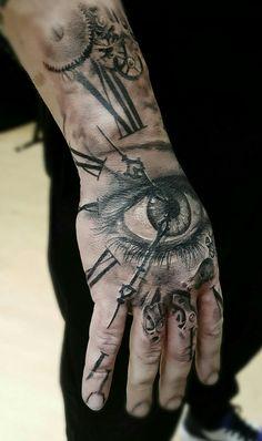 Time Hand Tattoos for Men . Time Hand Tattoos for Men . Pin On Tattoo Wrist Tattoos For Guys, Dad Tattoos, Forearm Tattoo Men, Skull Tattoos, Finger Tattoos, Body Art Tattoos, Sleeve Tattoos, Tatoos, Herren Hand Tattoos