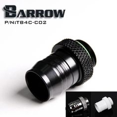 Barrow Black G1 / 4 'coin type for 1/2 (ID12.7MM) water pipe pagoda-type connector computer water cooler accessories TB4C-C02