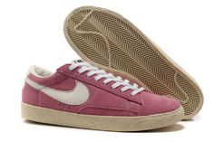 Nike Blazer Low Premium Vintage Suede Womens Shoes Pink White UK New Online