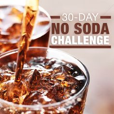 Take our 30 Day No Soda Challenge! Are you in? #cleaneating #nosoda #challenge