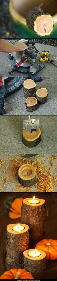 DIY - Easy Fall Candles - ps after the ice storm we definitely have the branches!!!