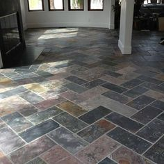 Herringbone slate tile. #LGLimitlessDesign #contest