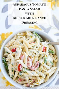 Pasta salads like this Asparagus Tomato Pasta Salad are one of my weaknesses! Pasta salads with fresh summer vegetables are delicious.