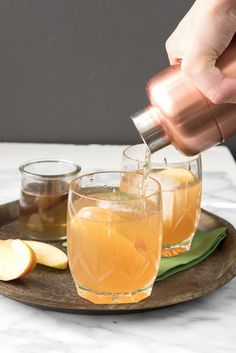 Spiced Apple Cider Whiskey Sour Cocktail with Homemade Cinnamon Simple Syrup from @boulderlocavore
