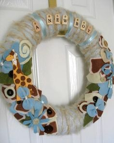 Love! boy baby shower and also good for the hospital door and/or nursery