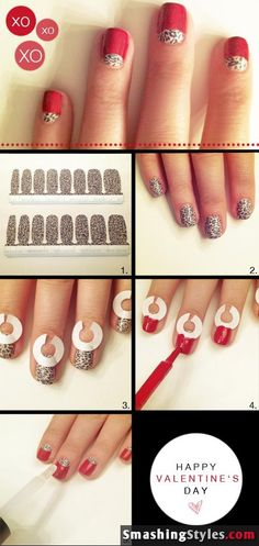 blog: Smashing Styles, nile, 9/5/12 - tutorial for a mani using paper hole reinforcers (also called a half-moon mani)
