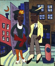 Harlem Street Life | 1939-40 Works of William H. Johnson.