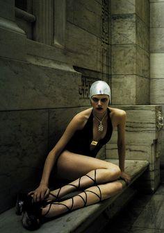 Elise Crombez in Vogue Italia June 2004 by Steven Meisel