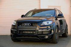 Audi Q7, air suspension lowering module + wheel spacers....