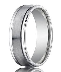 950 Platinum Designer Men's Wedding Band, Polished Round Edges, 6mm