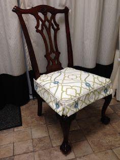 The Brick Path Studio Dining Room Chair Slipcovers, Dining Chair Seat Covers, Dining Table Chairs, Furniture Covers, Furniture Makeover, Diy Furniture, Old End Tables, Brick Path, Repurposed Furniture