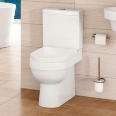 Hallmoor Close Coupled Toilet and Seat - Better Bathrooms Toilet Tiles, Close Coupled Toilets, Downstairs Loo, Amazing Bathrooms, Better Bathrooms, Shower, House, Bathroom Ideas, Rain Shower Heads