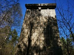 Hidden in a forest, forgotten in time, lies a fake 'city' - one of the last remains of Hitler's dream of the world capital 'Germania', Four buildings // towers, each 20 meters high, built of reinforced concrete that served as a test site for testing both bombs and construction, materials and types of buildings to build bomb-proof homes for civilians in Germania. #whitehouses #WorldWar2 #WW2 #german #Germania #Hitlers Bunker For Sale, Places Around The World, Around The Worlds, Bunker Hill Los Angeles, Bunker Hill Monument, Doomsday Bunker, Underground Shelter, Derelict Buildings, Bomb Shelter