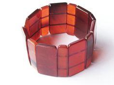 Red stretch bracelet bead bracelet link bracelet by Fineoxjewelry, $16.80