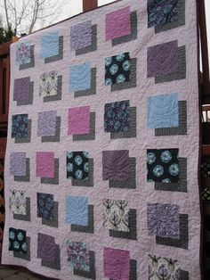 3D Tula Pink Quilt by Becky at Solar Threads - instructions provided