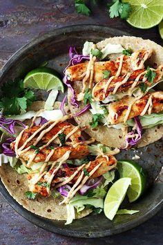 Jamaican Jerk Chicken Tacos | Creme de la Crumb