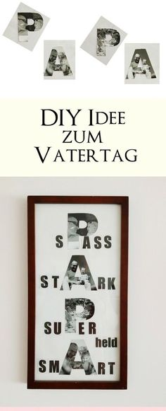 Mother& day and father& day pictures 3 DIY ideas with a .-Bilder zum Muttertag und Vatertag basteln 3 DIY-Ideen mit Anleitung zum selber … Make pictures for Mother& Day and Father& Day 3 DIY ideas with instructions for doing it yourself little love - Diy Gifts For Girlfriend, Diy Gifts For Mom, Diy Gifts For Friends, Great Gifts For Men, Gifts For Father, Presents For Men, Ideias Diy, Make Pictures, Mother Pictures