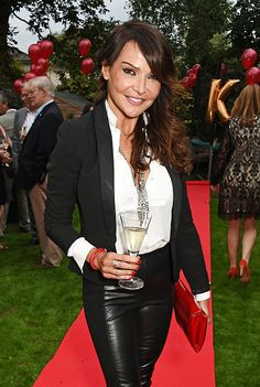 Lizzie Cundy attends Kelly Simpkin London's fashion soiree garden party in support of the British Red Cross at the home of Kelly Simpkin and Nicky...