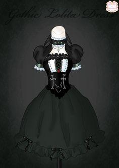 Gothic Lolita Dress by Neko-Vi
