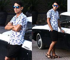 Shirt Zara Man, Shorts Zara Man, Sandalas Zara Man