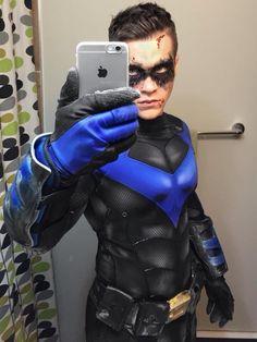 Michael Hamm cosplaying as Nightwing