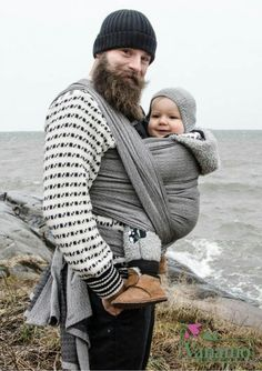 Wear A Baby - Vanamo Woven Wrap Solki Graniitti Dad N Me, Mom And Dad, Baby Sling Wrap, Baby Wearing Wrap, Baby Carrying, Father And Baby, Winter Hats, Winter Jackets, Woven Wrap