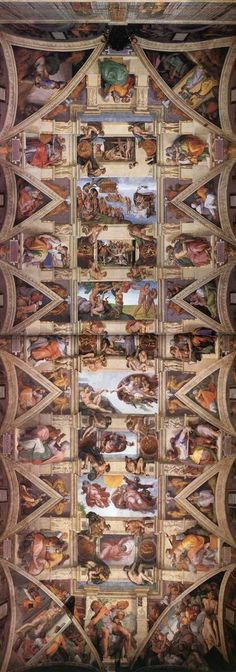 Michelangelo, The Ceiling of the Sistine Chapel, 1508-1512.