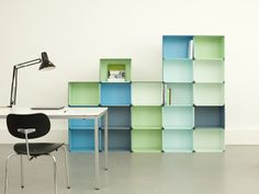 'kontur' by fritz und franken is a modular storage system capable of being integrated within the context of residential lounge areas and office workspaces. Modular Storage, Office Workspace, Lounge Areas, Bookcase, Shelves, Inspiration, Fritz, Wall, Room