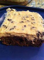 Chocolate chip cookie dough brownie.