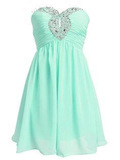 2016 Sweetheart Chiffon Mint Homecoming Dresses Short Bridesmaid Dress Prom…