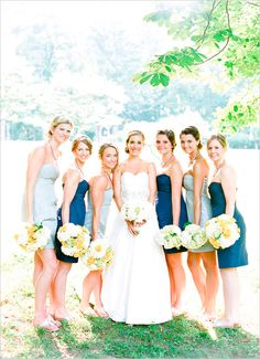 Blue nature inspired wedding. Captured By: Sweet Tea Photography #weddingchicks http://www.weddingchicks.com/2014/09/25/blue-nature-inspired-wedding/