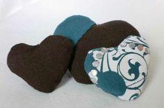 Stoffherzen-Serie Irisch Moos – Variante 4 von Mausepelzchen kreativ auf DaWanda.com