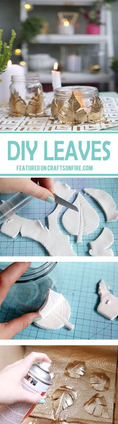 DIY crafts just keep on getting better and better, just like this awesome golden autumn leaves that can be used to decorate many things. ...