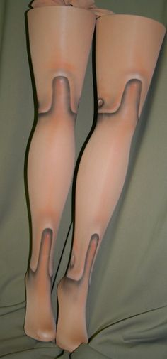 marionette tights by beadborg on Etsy, $35.00 questioning if I have the patience to do this with makeup