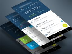 Android Finance App Material design by Artem Gareev