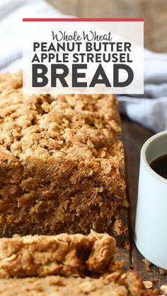 VIDEO: Whole Wheat Peanut Butter Apple Streusel Bread - Fit Foodie Finds