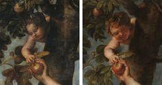 Diferencia nº 2 entre el original de Tiziano y la copia de Rubens: EL NIÑO SERPIENTE Del post http://harteconhache.blogspot.com.es/2013/07/las-siete-diferencias-entre-tiziano-y.html