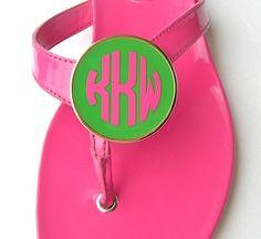 Adorable monogram Shoe Clips - https://www.purseladytoo.com/monogram-jewelry/