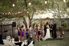 Rustic Backyard Wedding  Decor by: @Julie Forrest Forrest  Photo by: underpinphotography.com