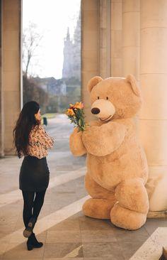 When Bill feels romantic by David Olkarny on Huge Teddy Bears, Giant Teddy Bear, Cute Cartoon Boy, Cartoon Girl Images, Teddy Day, Teddy Girl, Cute Girl Wallpaper, Bear Wallpaper, Cute Images For Dp