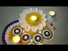 Innovative and Creative rangoli design/Very unique rangoli design #kolam #muggulu - YouTube