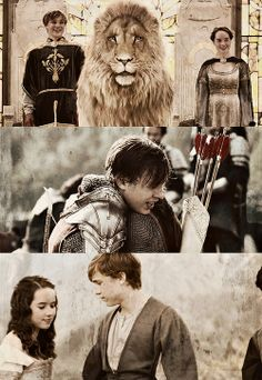 The Chronicles of Narnia - Peter and Susan AWWW! This is SO cute!