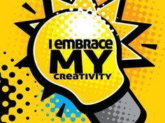 Free Affirmation Wallpaper - I embrace my creativity Motivational Affirmations, Positive Affirmations, Motivational Wallpaper, Morning Motivation, Meant To Be, Positivity, Creativity, Feelings, Free