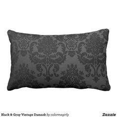Black & Gray Vintage Damask