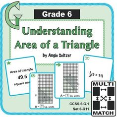 Area of parallelograms triangles and trapezoids coloring this free set of printable multi match game cards helps students learn to find the area of a triangle ccss these cards are great for math centers and can ccuart Images