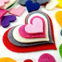 Card Toppers Craft Hearts Box of 45 Wooden Die Cut Hearts 28mm Embellishments