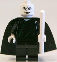 Lego Harry Potter Lord Voldemort with White Wand (2010 version) by LEGO. $10.20. Genuine LEGO Harry Potter Minifigure.. WARNING: CHOKING HAZARD-SMALL PARTS & SMALL BALLS. NOT FOR CHILDREN UNDER 3 YEARS.. Lord Voldemort with his White Wand!. Stands approximately 2 inches tall.. A great addition to any LEGO collection. Every hero needs a villain and Lord Voldemort is just that. Add him to any Harry Potter set and watch the drama unfold.