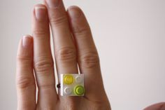 Lego Birthday Party Favors... How-To make Lego rings for the girls
